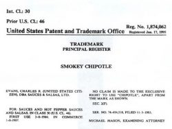 Smokey Chipotle Trademark