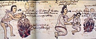 Aztec Codex Mendoza Chiles in Fire